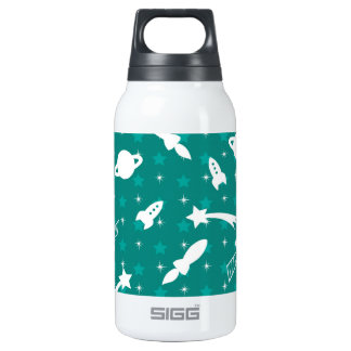 Teal Blue Outer Space Astronaut Planets Stars 0.3L Insulated SIGG Thermos Water Bottle