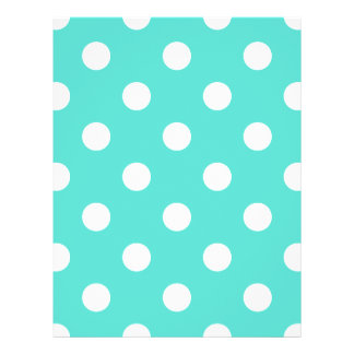 Teal Blue Polka Dot Pattern Flyer