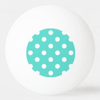 Teal Blue Polka Dot Pattern Ping Pong Ball