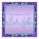 Teal Blue Purple Bat Mitzvah Invitations