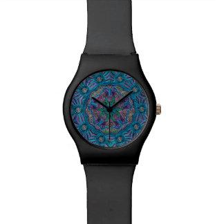 Teal Blue Purple Mandala Watch