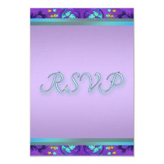 Teal Blue Purple RSVP Template