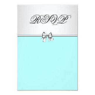 Teal Blue Quinceanera RSVP Custom Invitation