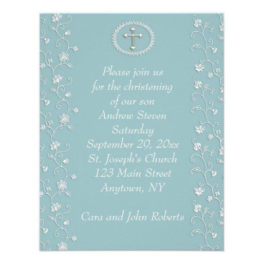 Teal Blue Religous Invitation
