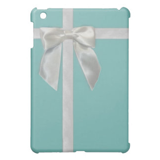 teal blue ribbon  cover for the iPad mini