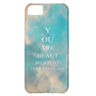 Teal Blue Sky Love Quote Cover For iPhone 5C