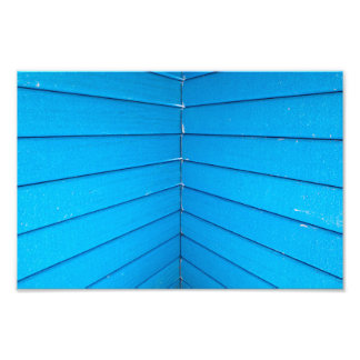 Teal Blue Stripe Playground Roof Slats Art Photo