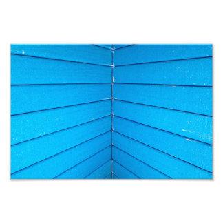 Teal Blue Stripe Playground Roof Slats Art Photo