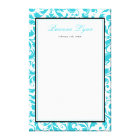 Teal Blue Swirl Damask Bat Mitzvah Sign In Board