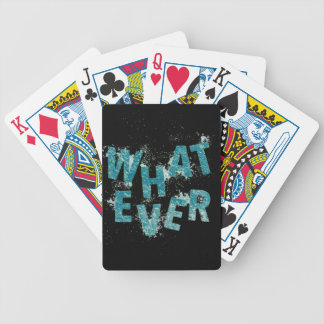 Teal Blue Whatever Bicycle Playing Cards