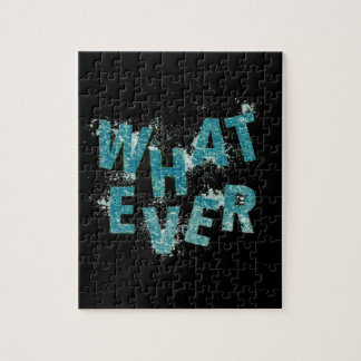 Teal Blue Whatever Jigsaw Puzzle