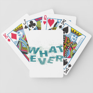 Teal Blue Whatever PNG Bicycle Playing Cards