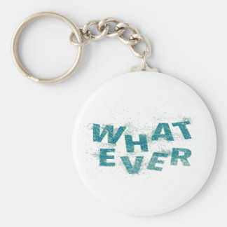 Teal Blue Whatever PNG Key Ring
