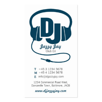Browse the DJ Business Cards Collection and personalise by colour, design or style.