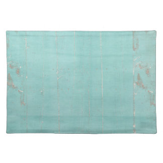 teal blue wood grungy placemats