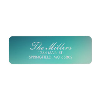 Teal Blurred Address Labels