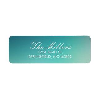 Teal Blurred Address Labels