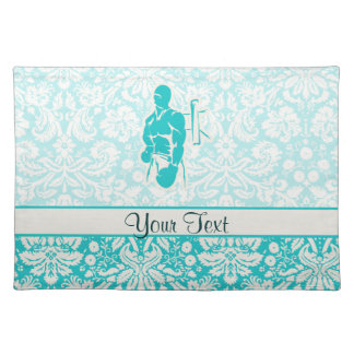 Teal Boxing Placemats