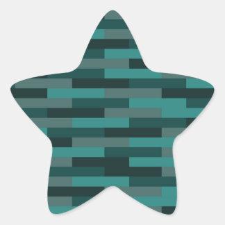 Teal Bricks Star Sticker