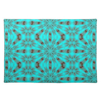 Teal Bright Burst Placemats