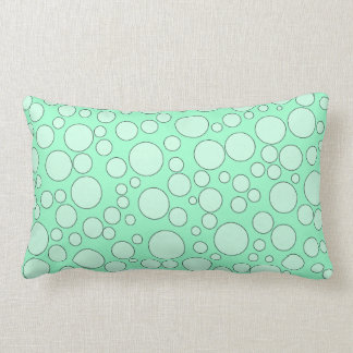 TEAL BUBBLES THROW PILLOW