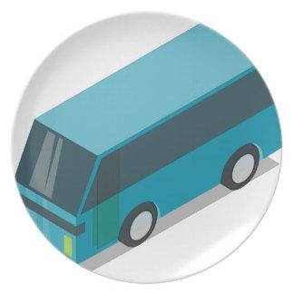 Teal Bus Plate