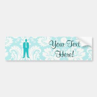 Teal Business Suit Bumper Sticker
