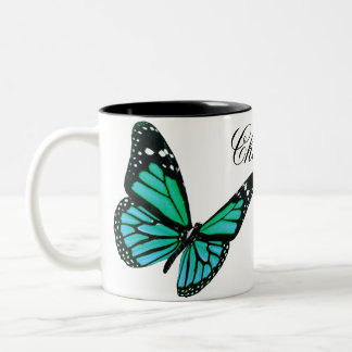 Teal Butterfly Coffee Mug
