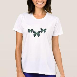 Teal Butterfly Womens T-Shirt
