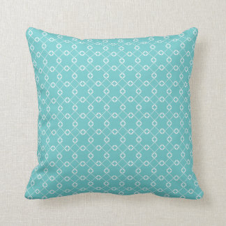 Teal Cage Vines Pattern Throw Pillow