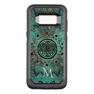 Teal Celtic Knot Mandala Otterbox OtterBox Commuter Samsung Galaxy S8 Case