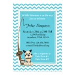 Teal Chevron Baby Shower Invitation