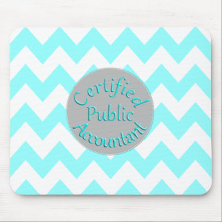 Teal Chevron/Gray CPA Mouse Pad