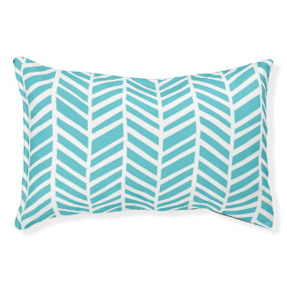 Teal Chevron Pet Bed