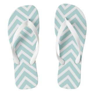 Teal Chevron Thongs