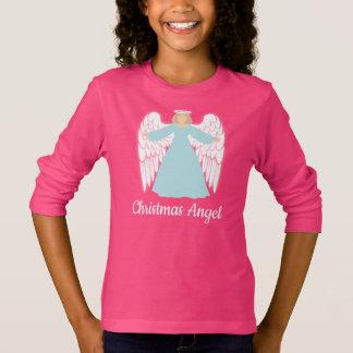 Teal Christmas Angel T-Shirt