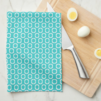 Teal Circle Tea Towel