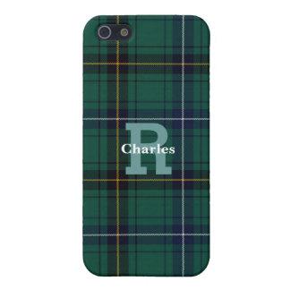 Teal Clan Henderson Plaid Custom iPhone 5S Case
