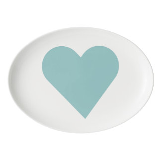 """TEAL COLLECTION"" PORCELAIN SERVING PLATTER"