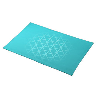 Teal Color Background Design with Grid Pattern. Placemat