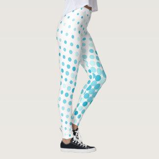 Teal Colored Polka Dots Leggings
