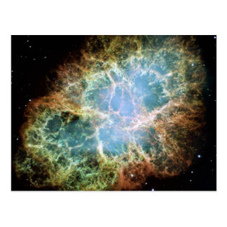 Teal Crab Nebula Postcard