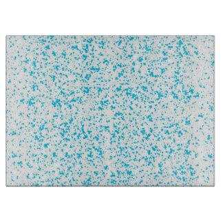 Teal Dalmatian Print Cutting Board