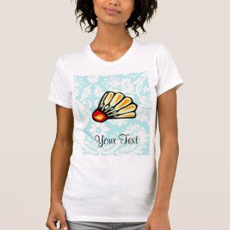 Teal Damask Badminton Tee Shirt