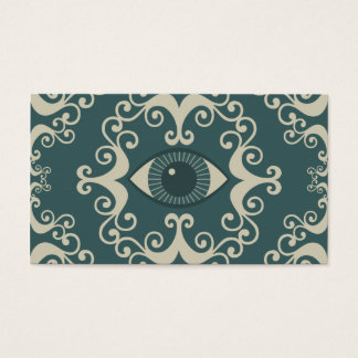 Teal Damask Eyeball Psychic Reader Cards