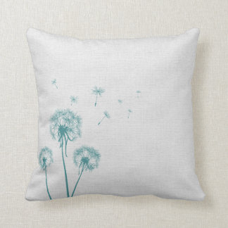 Teal Dandelion Cushion