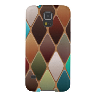 Teal Diamond Mosaic Case For Galaxy S5