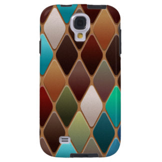 Teal Diamond Mosaic Galaxy S4 Case