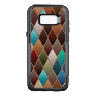 Teal Diamond Mosaic OtterBox Commuter Samsung Galaxy S8+ Case