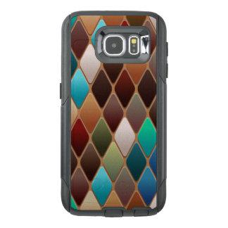 Teal Diamond Mosaic OtterBox Samsung Galaxy S6 Case